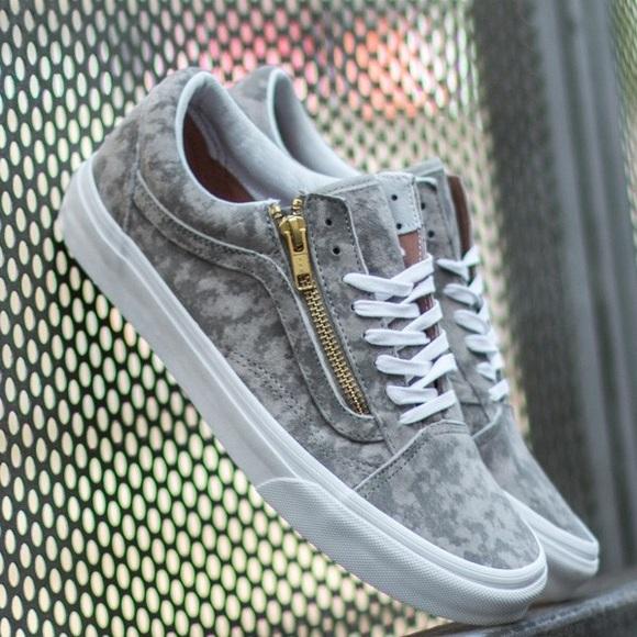 vans old skool zip grey